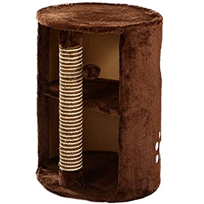 Mool Deluxe Cylinder Cat Scratching Tree/Post Activity Centre, 58 cm