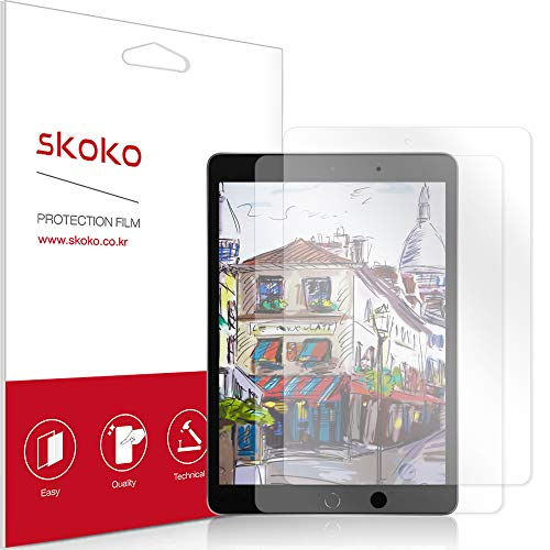 skoko [2 Pack] Paper-like Screen Protector Compatible with iPad 10.2 7th Gen 2019, Paper Texture, Preamiun PET, for Writing/Draw, Compatible with Apple Pencil
