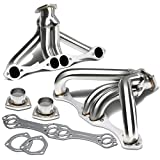 Tight Fit Design Stainless Steel Exhaust Header Angle Head Replacement for Chevy Small Block 262 265 283 305 327 350 400 Hugger
