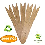1000 Pieces Wooden Disposable Chip Forks Great to use for Fish and Chips Snacks and Finger Food, Mini Forks for Parties
