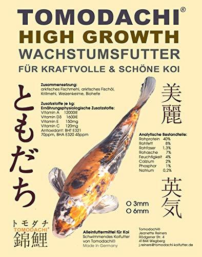 Koifutter, Grower, Energiefutter Koi, Wachstumsfutter Jungkoi, Schwimmfutter, Tosai Koifutter, arktische Rohstoffe, hohe Futterverwertung, mega Wachstum, geringe Wasserbelastung, HighGrowth 3mm 15kg