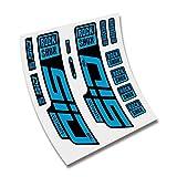 CUAC REVOLUTION Pegatinas Horquilla ROCKSHOX SID SL Ultimate 2020/2021 BTT MTB Fork Stickers AUFKLEBER ADESIVI Bike Decals (Azul Hielo)