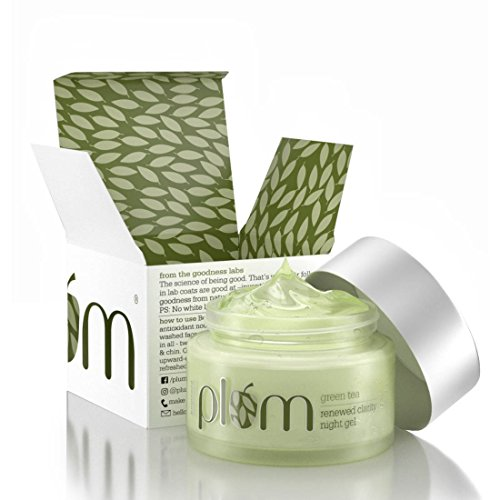 Plum Green Tea Renewed Clarity Night Gel 50ml, For...