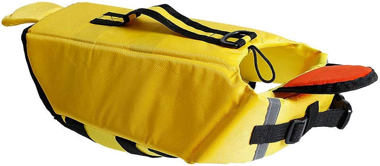 Pet Travel Bag Dog Swimming Life Jacket Duck Cartoon Reflective Dress pet Swimming Vest Clothing (Size    1)