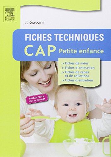 Fiches techniques CAP petite enfance