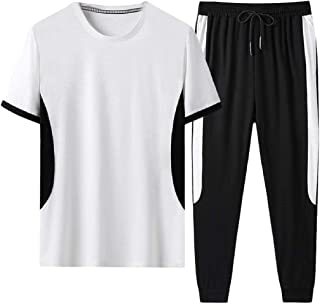 Men's Sport Active Tracksuit Short Sleeve Running Jogging Outfits