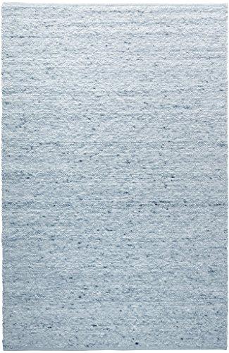 TISCA Teppich aus Schurwolle Rouge hellblau (Verschiedene Größen) 140 x 190 cm