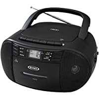 Jensen CD-545b Portable Stereo CD Player with Cassette Recorder & AM/FM Radio