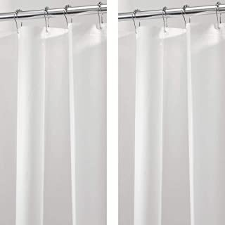 mDesign - Heavy Duty PEVA Curtain Liner for Bathroom Showers and Bathtubs, 72 x 72 - Frost - 2 Pack