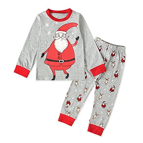 Kleinkind Baby Mädchen Herbst Winter Kleidungset ,2PCS Weihnachten Langarmshirts Sleepwear Strampler T-Shirt Pullover + Hosen Pants Sporthosen Trainingsanzug Outfits Sweatsuit Sets (Grau, 3-4 Years)