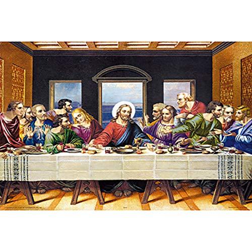 JW-MZPT Mondiale Famoso Dipinto L'Ultima Cena Adulti 500, 1000, 2000, 4000 Pezzi di Un Puzzle in Legno Famoso Pittore educativo decompressione Giocattolo,500pieces