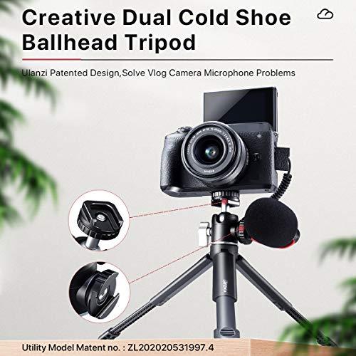 Mini-Stativ, Mini-Kamerastativ mit 360°-Kugelkopf und Kaltschuh, ausziehbares kleines Selfie-Stick, Tischstativ für Kamera Canon G7X Mark III Sony ZV-1 RX100 VII A6600 Vlogging Projektor Webcam DSLR