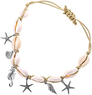 Nicute Boho Bracelet de cheville en coquillage de mer pour femme et fille