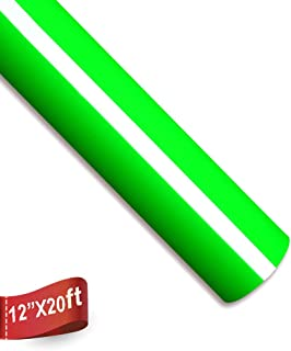 Heat Transfer Vinyl Roll 12 Inches by 20 Feet Easy to Weed Iron On HTV Vinyl for T-Shirts (Neon Green)