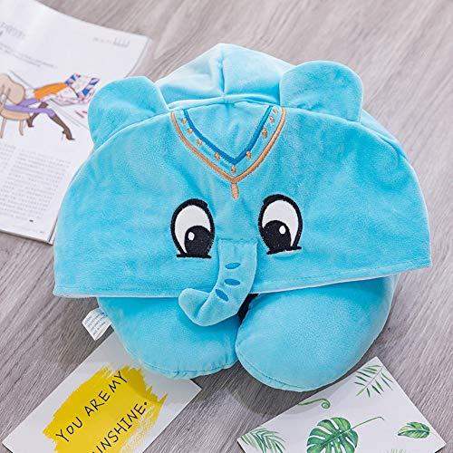 HEQIE-YONGP Almohada Cómoda Cuello Suave Cuello Almohada Gorra Multiuso Coche Cuello Almohada Sombrero Sombrero De Viaje (Color : Blue)