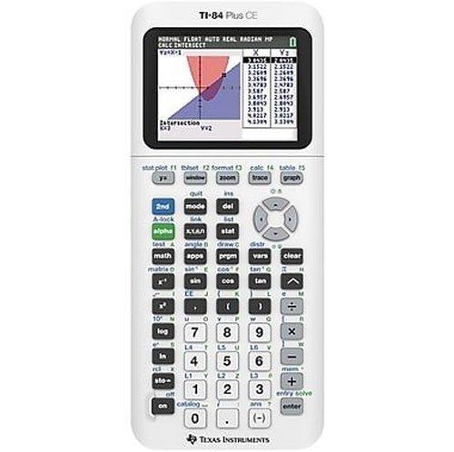 TI-84 Plus CE Color Graphing Calculator, White (Renewed)