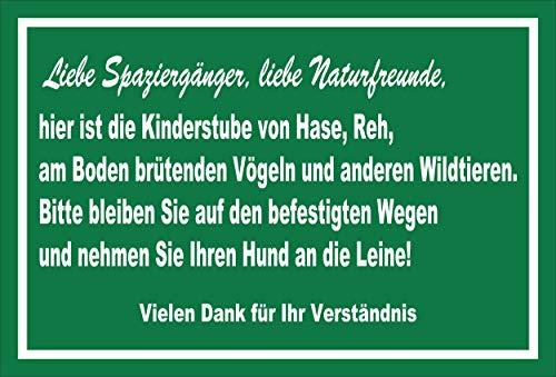 Melis Folienwerkstatt Schild Wild-Tiere - Wege bleiben - 30x20cm - 3mm Aluverbund – 20 VAR S00359-108-E
