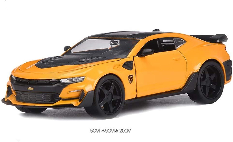 descuento de ventas en línea Sunta 1 24 Transformers Transformers Transformers 5 Coche de Juguete Modelo de aleación de Coche,Amarillo  promociones de descuento