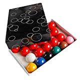 TX GIRL 22pcs Bola De Snooker 52.5mm Resina Snooker Bolas Completa Juego 2 1/16 Pulgada (Color : 52.5mm)