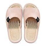 BIKINIV Reflexology & Acupressure Massage Slippers Sandals for Men & Women Home Shoes Shock Absorbing, Cushion Comfort & Arch Support for Better Health (7.5-8 Women/6.5-7 Men, Biscuit Beige)