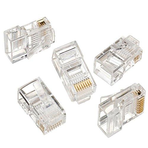 Maclean MCTV-663 - Conector Solido RJ45 Cat-5 E (8P8C) (100 Piezas Cada Paquete)