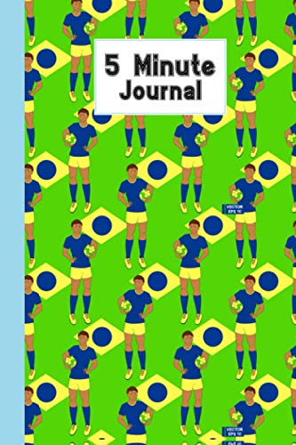 """Five Minute Journal: Football Cover 5 Minute Journal For Practicing Gratitude, Mindfulness and Accomplishing Goals, 120 Pages, Size 6"""" x 9"""" By Alex Yaulok Lam"""