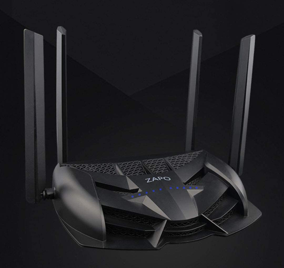XBOSS Zopo Gaming LED WiFi Router AC 2600Mbps and Storge Repeter - Dual Band 5Ghz Wireless Gigabit Ethernet speeds- Control Your ping and Latency- Works with Xbox, Playstation, PC and More