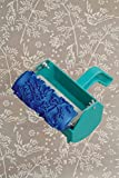 Bueer 5' Patterned Paint Roller Decorative Soft Rubber Roller With Single Color Painting Machine For Creating Ideas on Paint Patterns, Borders, Wall Decals and Decorative Stickers (Birds and Flowers)