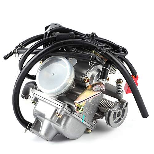 Carburador ATV, carburador de 24 mm/0.9in Accesorio de carburador Accesorio de reemplazo del carburador para scooters ATV de 4 tiempos GY6 PD24J 125CC 150CC