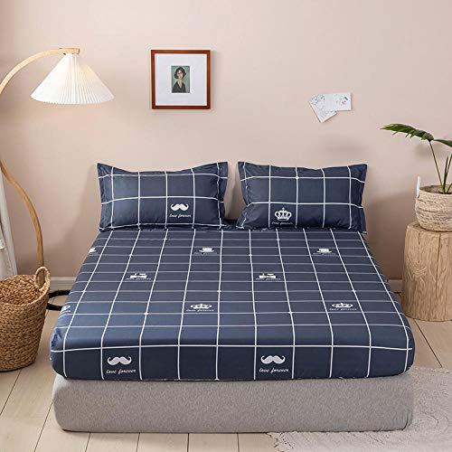 XGguo Protector de colchón - cubrecolchón Transpirable Sábana lijada y a Prueba de Polvo de una Sola pieza-15_150 * 200cm