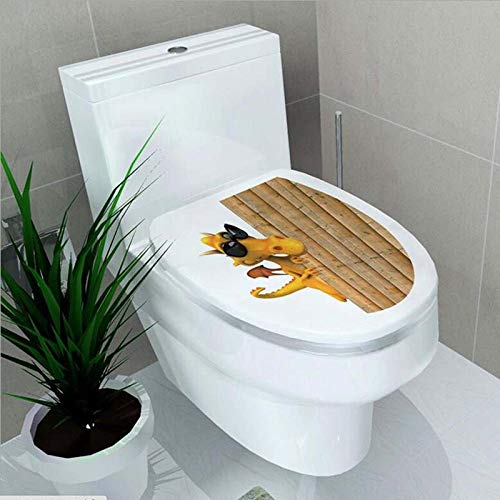 TFOOD Wandsticker, 3D Hidden Dragon toiletafdekking PVC muursticker DIY Art Wallpaper geschikt voor badkamer toilet Home Decoration