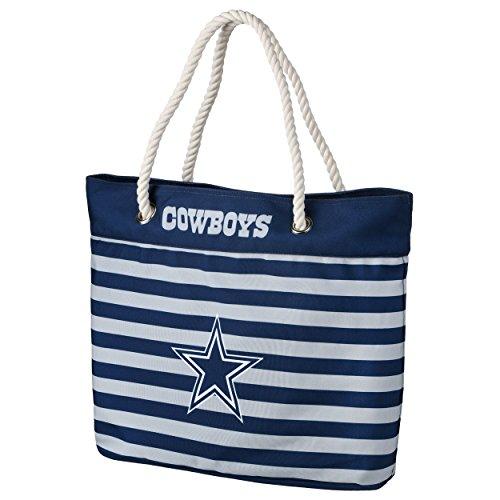 Dallas Cowboys NFL Nautical Stripe Tote Bag