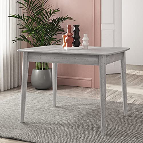 Cami Extendable Dining Table in Grey - Seats 6