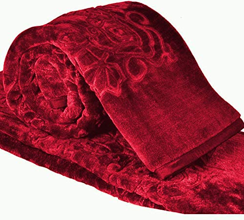 Cloth Fusion Celerrio Mink Double Red Blanket