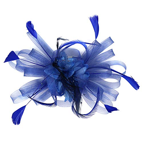 Tocado sombrero de malla de plumas velo de fiesta Sombreros Ascot Sombrero de flor Derby Sombrero con clip y diadema para mujer