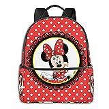 Mickey Cartoon Mouse Bowknot Anime Moda Lindo Boy Girl Mochila Mochila escolar