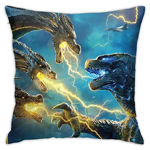 xiancheng God-Zilla Dinosaur King of Monsters - Funda de almohada decorativa para sofá cama de coche, tamaño S