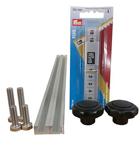 2 Stück à 1m Aluminium C-Profil + Maßband + Sterngriffmuttern M6 + Schrauben / Alu C Profil