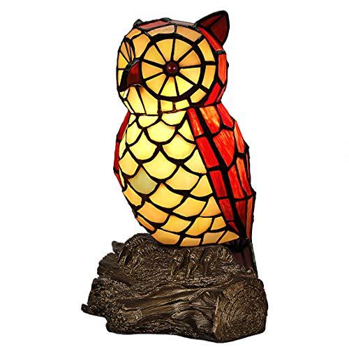 World Art TW60051 Lampes Style Tiffany Hibou, 26x18, 5x15 Cm