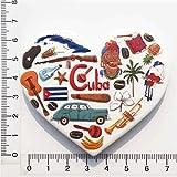 Weekinglo Souvenir Cuba 3D Imán de Nevera Resina Artesanía Hecha A Mano Turista Viaje Ciudad Recuerdo Colección Carta Refrigerador Etiqueta