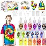 Gifort Tie Dye Kit, Textiles de Tela Colores Vibrantes Pinturas Tinte Ropa Graffiti para Proyectos de Bricolaje y Actividades de Fiesta (18 Colores)