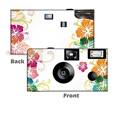 5 Tropical Hibiscus Custom Disposable Cameras, Can be Personalized, Single use by CustomCameraCollection