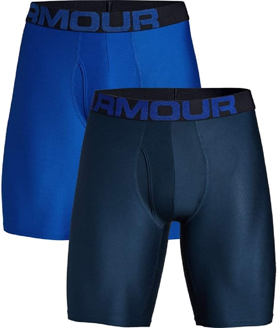 Mens Boxer Briefs Offering Complete Comfort Under Armour Tech 9in 2 Pack Fast-Drying Mens Underwear Men