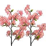Aisamco 4 pcs Fleur de Cerisier Sakura Artificielles, Branches de Fleurs en Soie Faux Fleurs en Soie Fleurs de Cerisier en Plastique pour Décoration de Salle de Cérémonie de Mariage