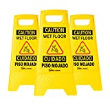 Simpli-Magic 79192 Caution Wet Floor, 3 Pack, Yellow, 3 Pack
