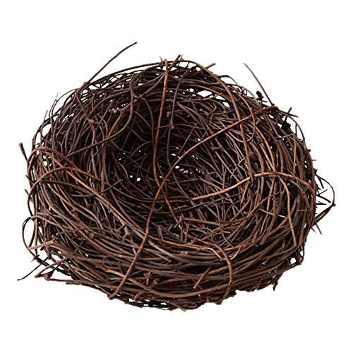 Kit gabbia per uccelli da volo Gabbia per uccelli Artificiale Rattan Bird Nest Easter Eggs Holder Fai da te Fatti a mano Birdcage Birdhouse Birdhouse Ornamento di Pasqua Ornamento Casa Forniture Decor