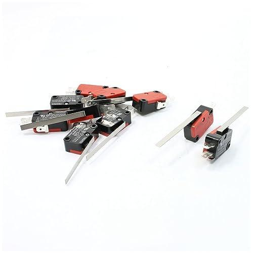 Interruptor micro - SODIAL(R) 10 x Micro Interruptor de accion rapida del brazo
