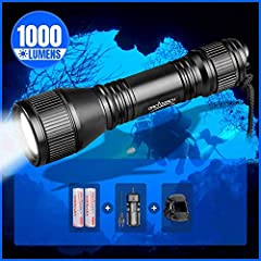 Super Bright: uses high quality cree led, with a lifespan of 50, 000 hours. The maximum output is up to 1000 lumens, gives you super bright white light underwater. Easy to operate: equipped with totally sealed magnetic controlled tail switch which of...