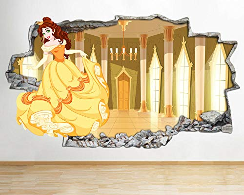 HUGF Wandtattoo Wall Stickers Kids Fantasy Fairy Tales Red Smashed Decal 3D Art Vinyl Room