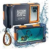 WebfoxTec [Tauch-Gehäuse] wasserdichte und Schwimmfähige Handy-Hülle bis 15m Tiefe, Extrem...